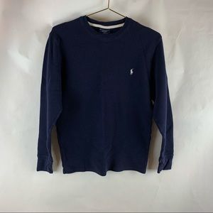 Polo Ralph Lauren Size S Blue Thermal Shirt